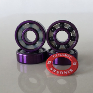 Kingsk8 Purple Anodized Si3N4 Ceramic Skateboard Bearings