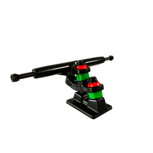 Custom Double Kingpin Jet Black Skateboard Trucks - 7'' Hanger 9.6'' Axle (Set of 2)