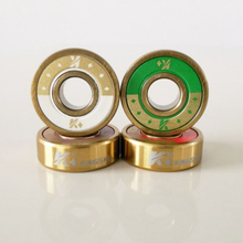 Kingsk8™ King of Diamonds Gold Titanium Skateboard Bearings