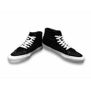 Mens black skateboard High-Top shoes