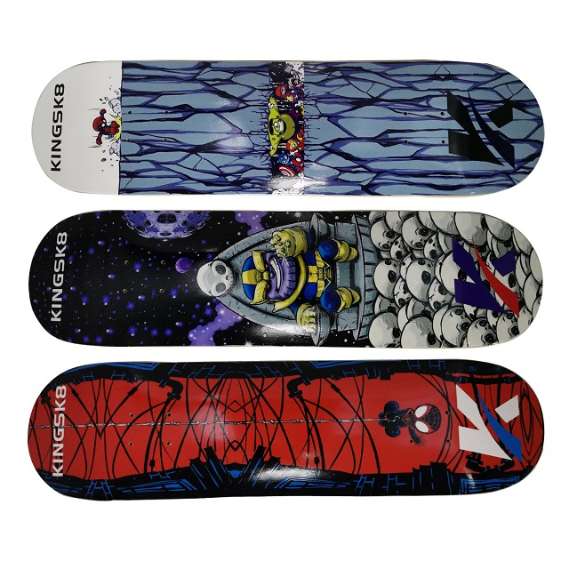 Kingsk8 Canadian Maple double rocker POP skateboard deck