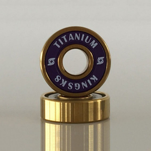 Kingsk8 Gold Titanium Coating Skateboard Bearings